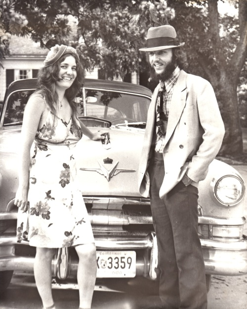 Jim and Beth with the Bonnie and Clyde look